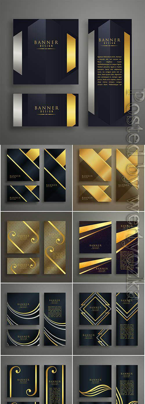 Elegant banners with patterns in vector
