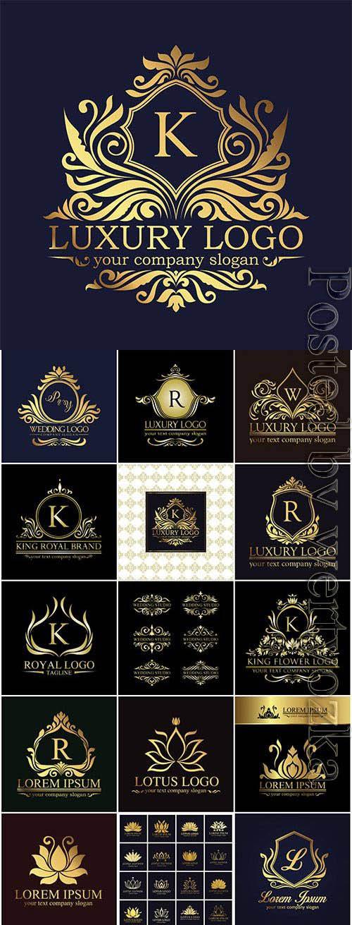 Elegant logos for business companies in vector
