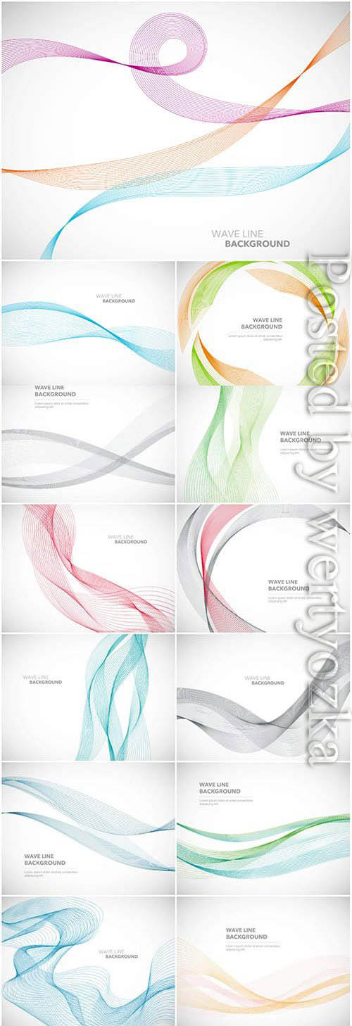 Beautiful colored lines in vector