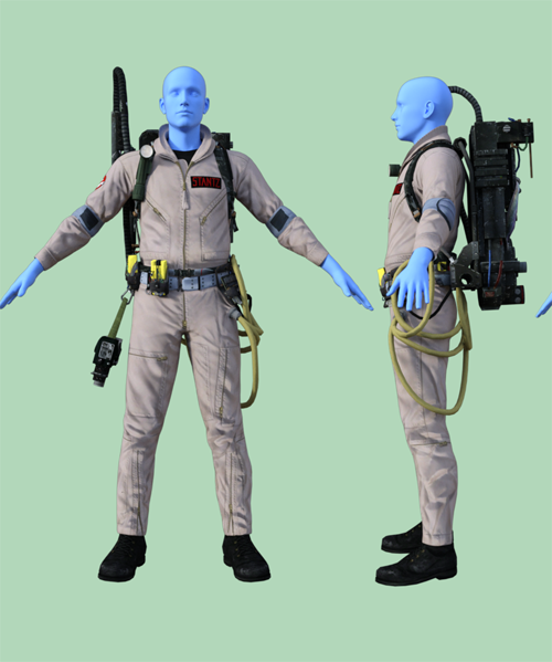 Ghostbusters Outfit for Genesis 8 Male