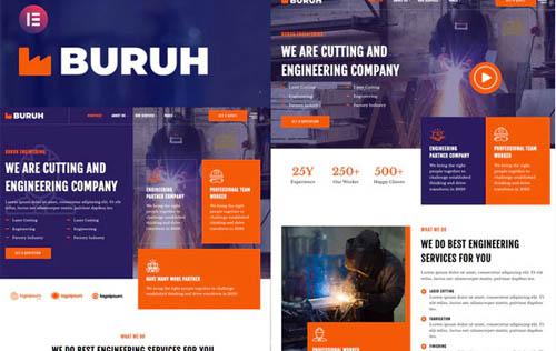 ThemeForest - Buruh v1.0.0 - Laser Cutting & Engineering Company Elementor Template Kit - 33514571
