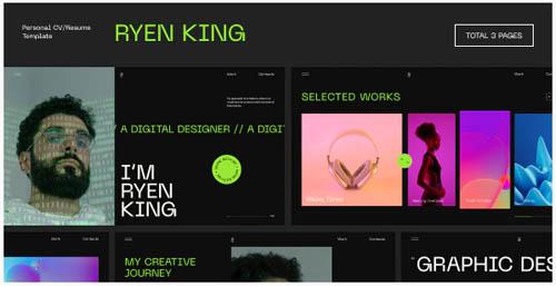 ThemeForest - Ryen King v1.0.0 - Personal CV/Resume WordPress Theme - 33306743