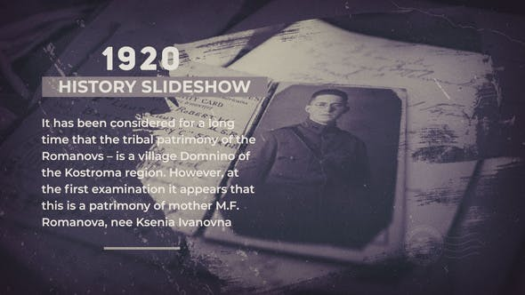 Videohive - The History Slideshow - 28968446