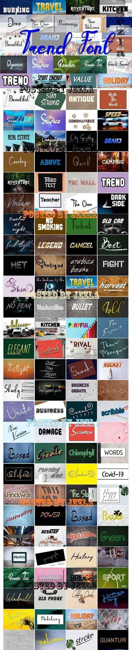 Trend Font Bundle - 144 Premium Fonts