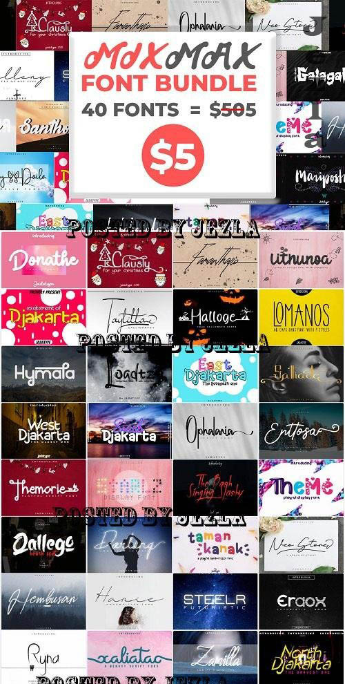 Mix Max Font Bundle - 40 Premium Fonts