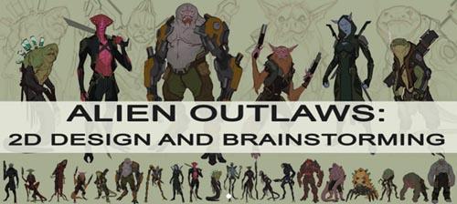 Gumroad - Alien Outlaws 2D Design and Brainstorming
