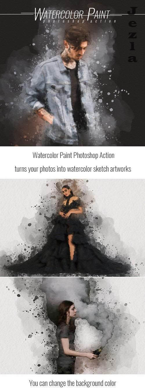 Splash Art Photoshop Action - 32826592