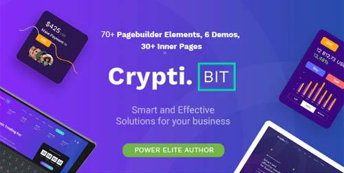 ThemeForest - CryptiBIT v1.3.1 - Technology, Cryptocurrency, ICO/IEO Landing Page WordPress theme...