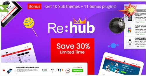 ThemeForest - REHub v16.6.1 - Price Comparison, Multi Vendor Marketplace, Affiliate Marketing, Co...