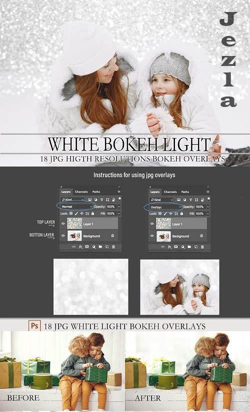White bokeh light, overlays - 1557702