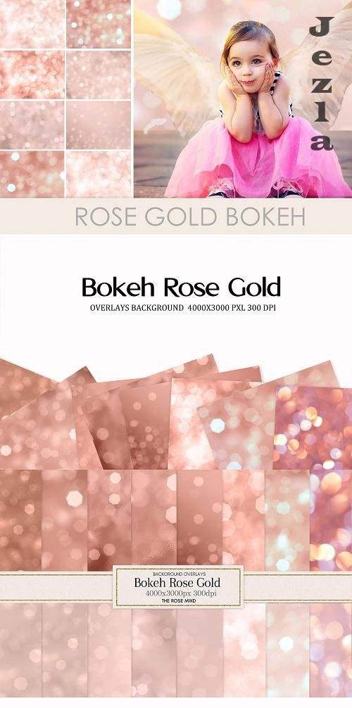 Rose gold bokeh overlays - 1546109