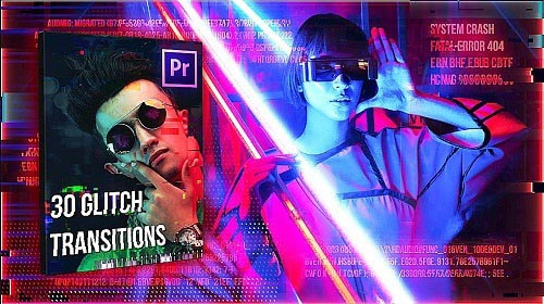 30 Glitch Transitions Pack 731918 - Premiere Pro Templates