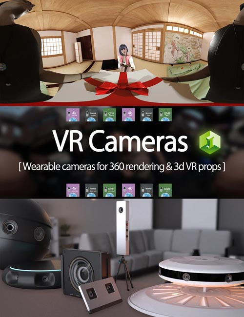 VR Cameras for Genesis 8 Male and Female