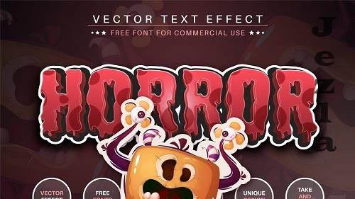 Horror Blood - Editable Text Effect - 6438472