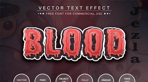 Blood - editable text effect - 6439647