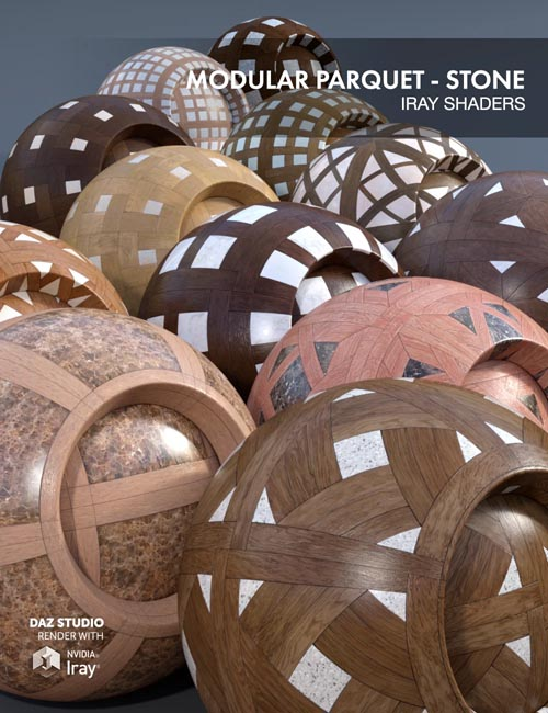 Modular Parquet Stone - Iray Shaders