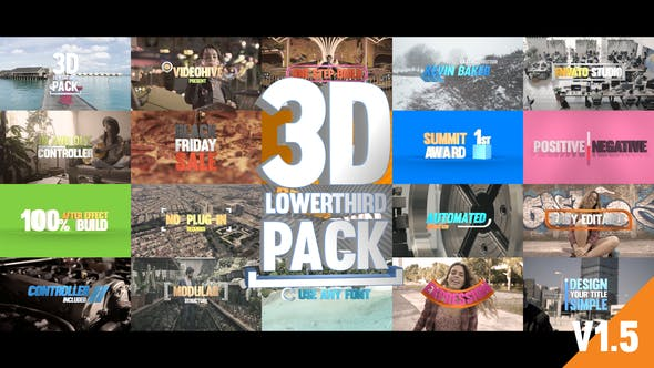 Videohive - 3D Titles Pack - 20897214