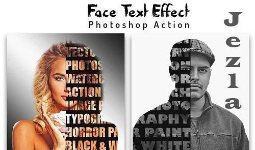 Face Text Effect Photoshop Action - 6450763
