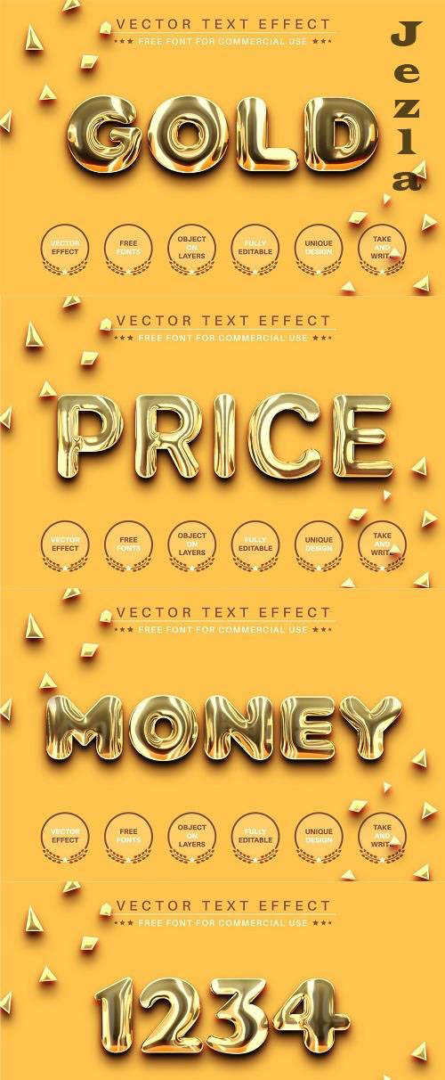 Realitic Gold - Editable Text Effect - 6450221