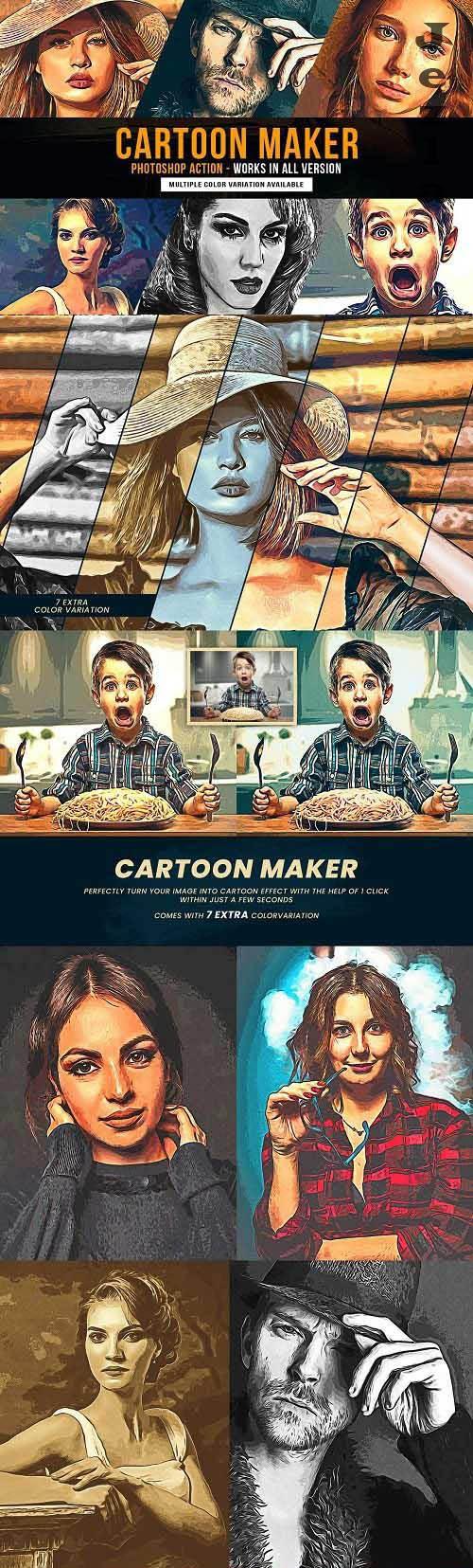 Cartoon Maker Photoshop Action - 6424304