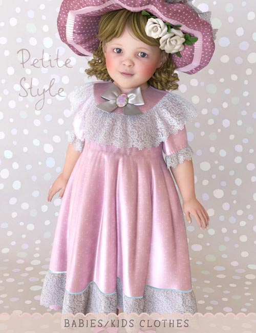 dForce Petite Style Dolly Dress for Genesis 8 Females