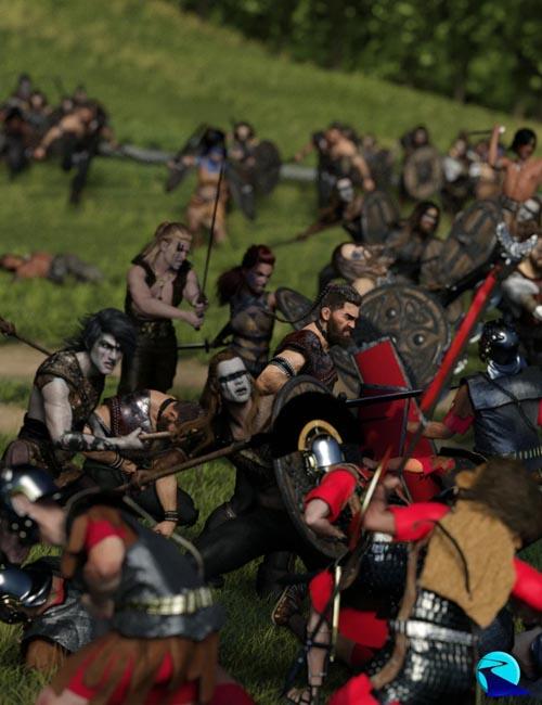 Now-Crowd Billboards - Barbarian Warriors Fighting (Barbarian Warriors Vol III)