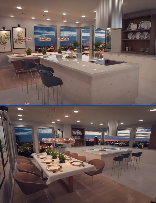 Polished Dining and Kitchen