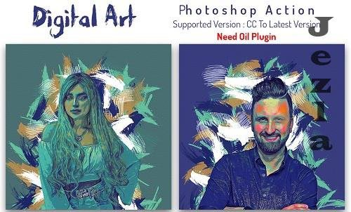 Digital Art Photoshop Action - 6451999