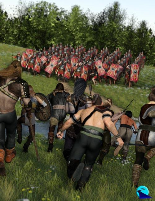 Now-Crowd Billboards - Barbarian Warriors Charging (Barbarian Warriors Vol I)