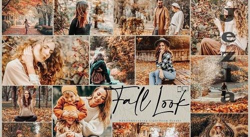 10 Fall Look Mobile & Desktop Lightroom Presets, Autumn Warm - 1555453