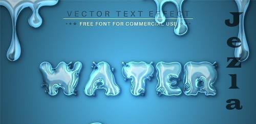 Blue Water - Editable Text Effect - 6455059
