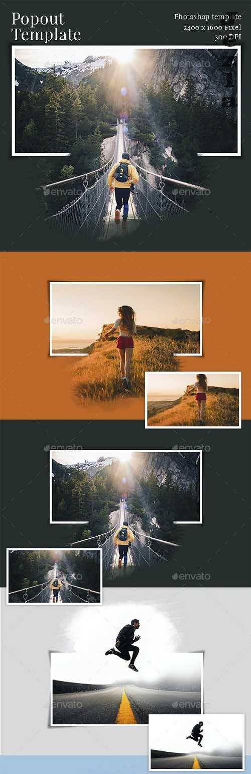 Popout Photo Template - 32807988