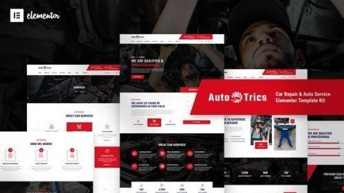 ThemeForest - AutoTrics v1.0.2 - Car Repair & Auto Service Elementor Template Kit - 29895648