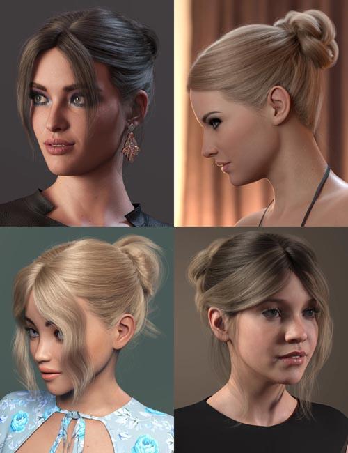 MEGA Updo 2 Hair for Genesis 8 and 8.1 Females