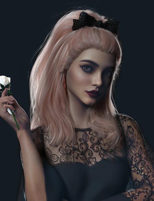 Ribbon Ferreira Hair for Genesis 8 and 8.1 Females