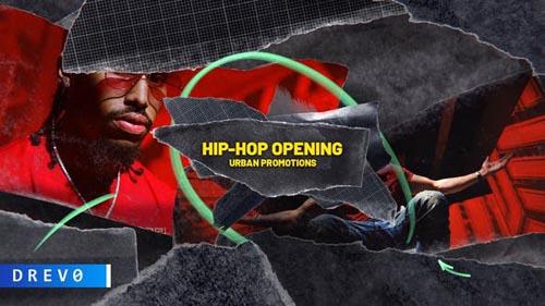 Videohive - HIP-HOP Opening/ True Rap Music/ City/ New York/ Brush/ Gangsta/ Dynamic/ Street/ Bas...