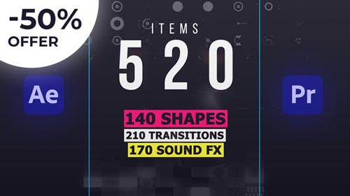 Shape Elements Library | AtomX - Script and Templates for After Effects & Premiere Pro (Videohive)