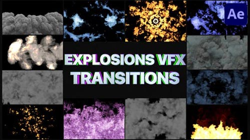 Videohive - Smoke And Explosions VFX Transitions | After Effects - 32051284
