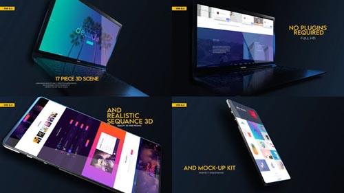 Videohive - Web Promo And Mockup Device Kit V02 - 31875733