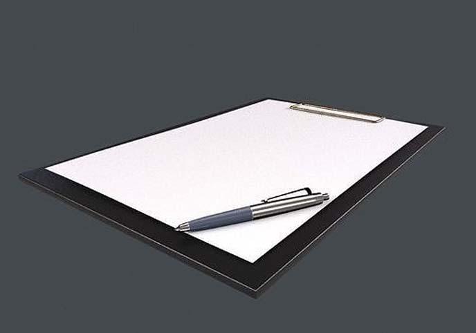 Pen and folder
