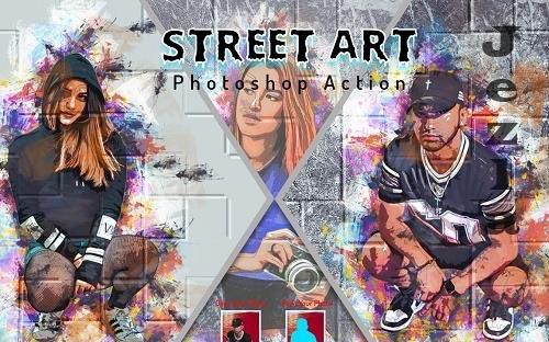 Street Art Photoshop Action - 6464321