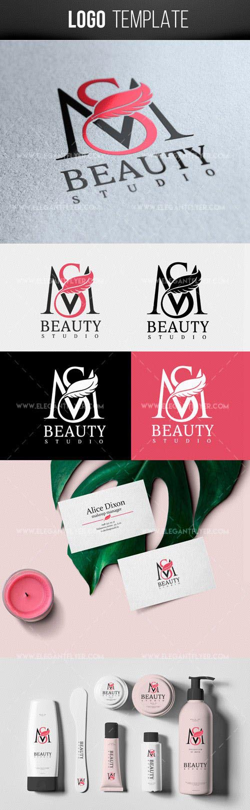 Beauty Studio Premium Logo Template