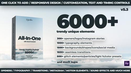 6000+ All-In-One Motion Graphics Pack - Project & Script for After Effects (Videohive)