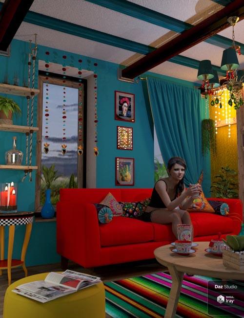 Boho Cottage : Living Room