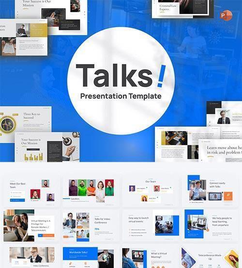 Talks! Business PowerPoint Template