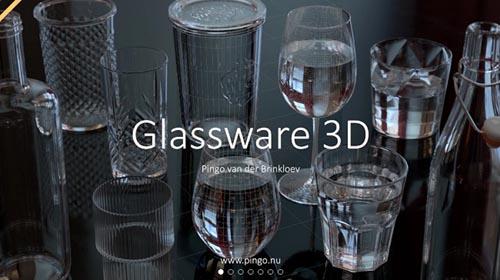 Gumroad - Glassware 3D by Pingo van der Brinkloev