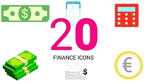 Infographic Presets: 20 Finance Icons 97631 - After Effects Presets