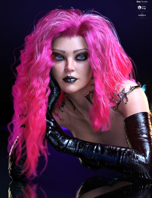 dForce Sanzu Hair for Genesis 8 Females