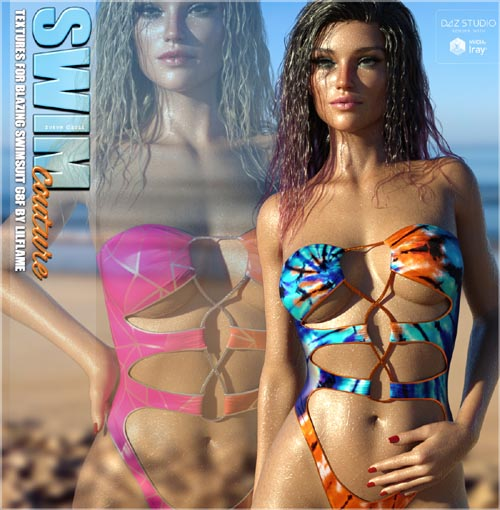 SWIM Couture Textures for Blazing Swimsuit G8F
