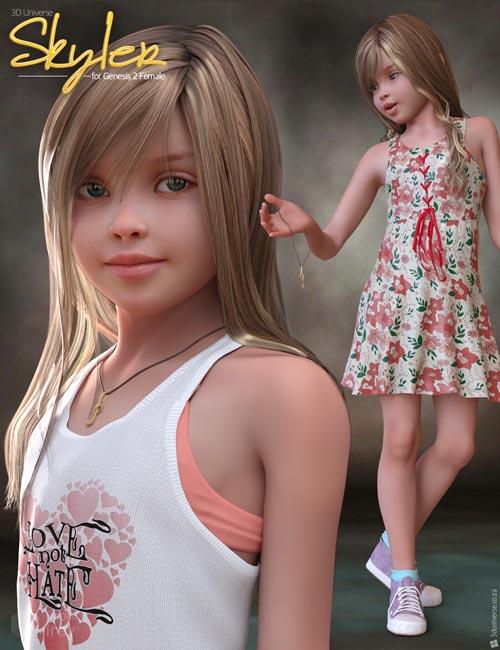 Skyler for Genesis 2 Female(s) Bundle